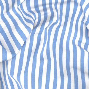 Light Blue Stripe Shirt Fabric produced by  Canclini