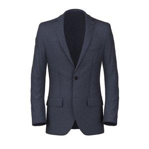 Blazer Blu Denim Tessuto prodotto da  Lanificio Cerruti