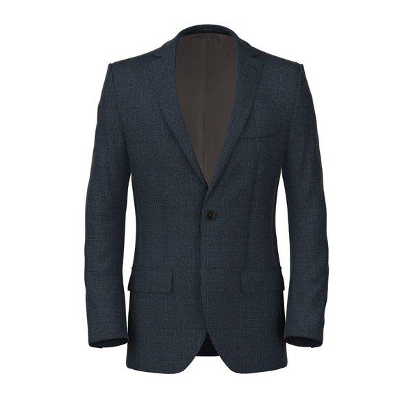 Giacca Blu Quadri Design Tessuto prodotto da  Drago