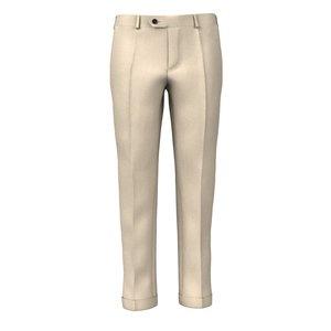 Pantaloni 150's Beige Spigati Tessuto prodotto da  Drago