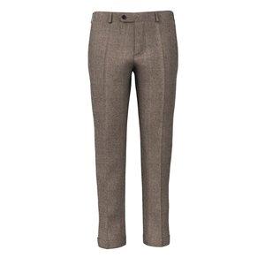 Pantaloni 150's Marroni Oxford Tessuto prodotto da  Drago
