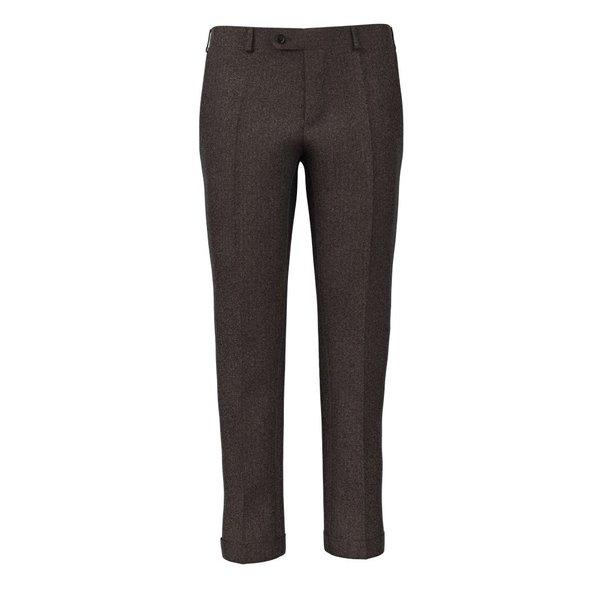 Pantaloni 150's Marroni Spigati Tessuto prodotto da  Drago