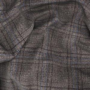 Giacca Marrone a Quadri Tessuto prodotto da  Drago