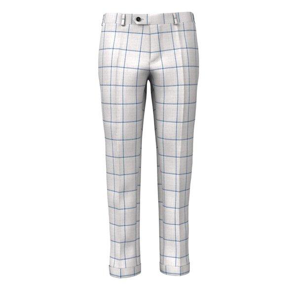 Pantaloni Grigi Finestrati Tessuto prodotto da  Drago