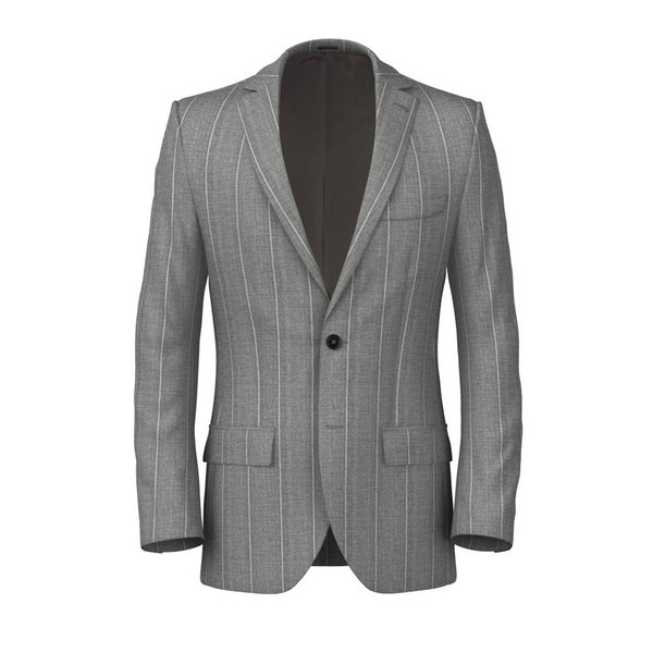 Sage Striped Jacket Fabric produced by  Drago