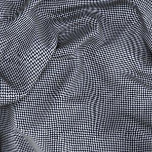 Giacca Blu Pied de Poule Lana Cotone Tessuto prodotto da  Drago