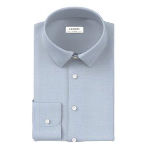 Camicia Natural Stretch Azzurra Tessuto prodotto da  Grandi & Rubinelli