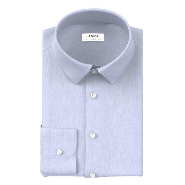 Camicia Azzurra Zephyr Cotone Tessuto prodotto da  Ibieffe