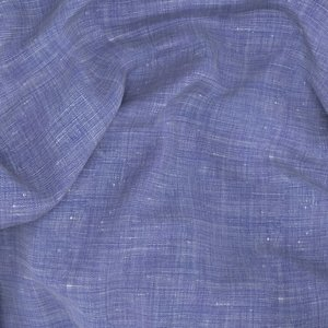 Blue Cotton Linen Shirt Fabric produced by  Ibieffe