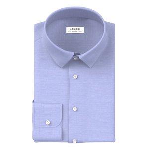 Camicia Icon Azzurra Oxford Cotone Tessuto prodotto da  Ibieffe