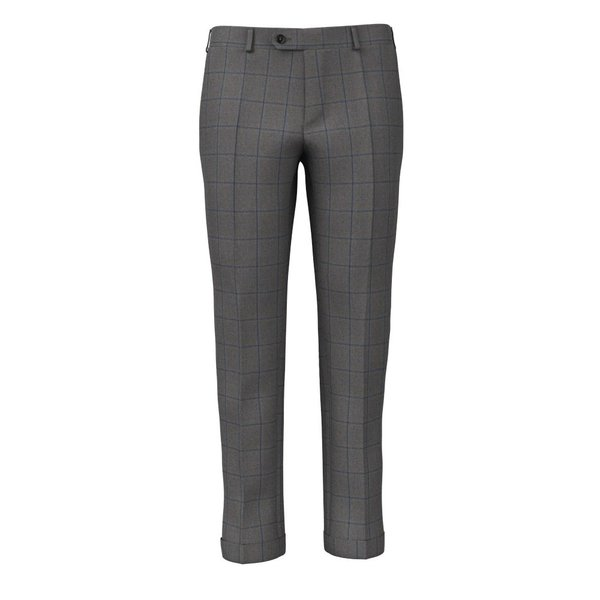 Pantaloni Grigi Blu Finestrati Tessuto prodotto da  Loro Piana