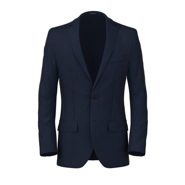 Blazer Blu Gessato Tessuto prodotto da  Loro Piana