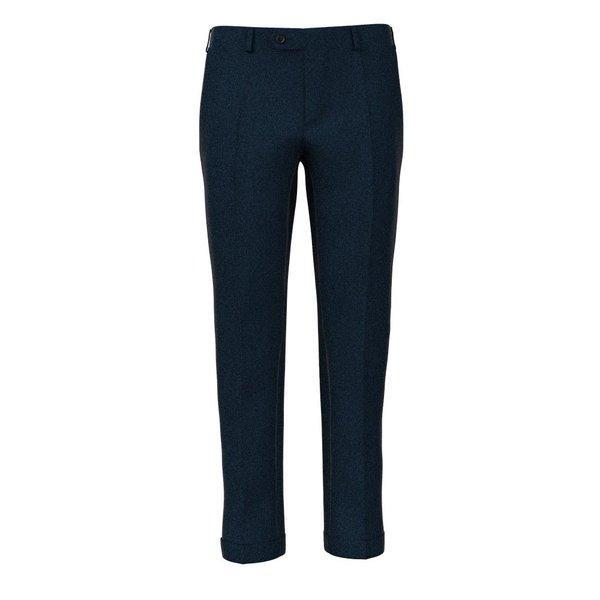 Pantaloni Blu Notte Pied de Poule Tessuto prodotto da  Loro Piana