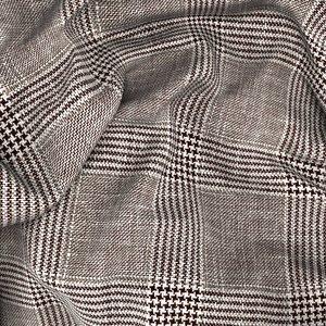 Blazer Marrone Galles Fresco Cashmere Tessuto prodotto da  Loro Piana