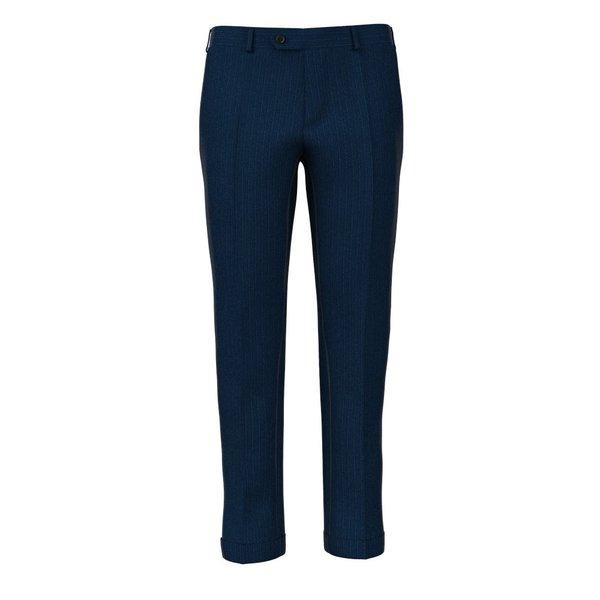 Pantaloni Blu Effetto Rigato Tessuto prodotto da  Loro Piana