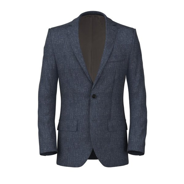 Blue Melange Jacket Fabric produced by  Marzotto
