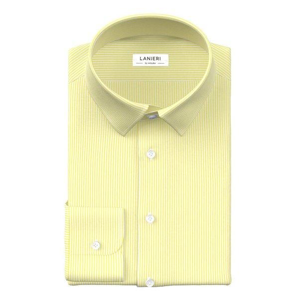 Yellow Stripe Shirt Fabric produced by  Thomas Mason
