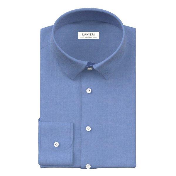 Camicia Azzurra Zephyr Tessuto prodotto da  Thomas Mason