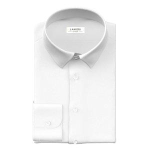 Traveller White Shirt Fabric produced by  Thomas Mason