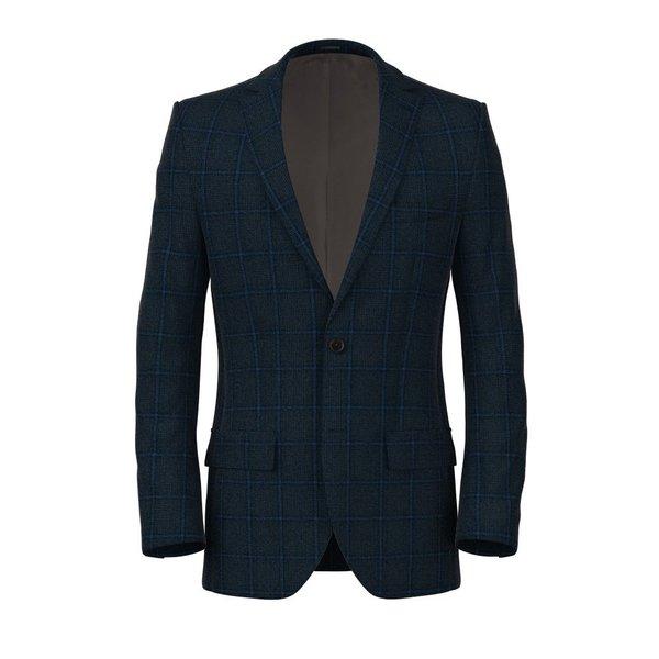 Giacca Blu Notte Principe di Galles Tessuto prodotto da  Tessitura di Quaregna