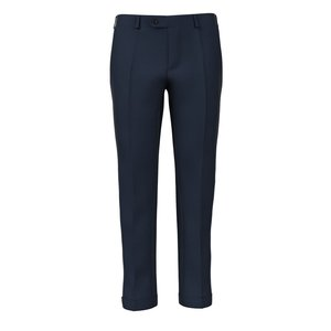 Pantalon 150's Bleu Grisaille Tissu fabriqué par  Reda
