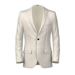 Blazer Bianco Lana Lino Tessuto prodotto da  Reda