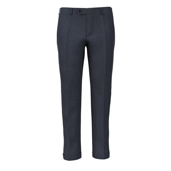 Pantaloni Natural Stretch Blu Pied de Poule Tessuto prodotto da  Reda
