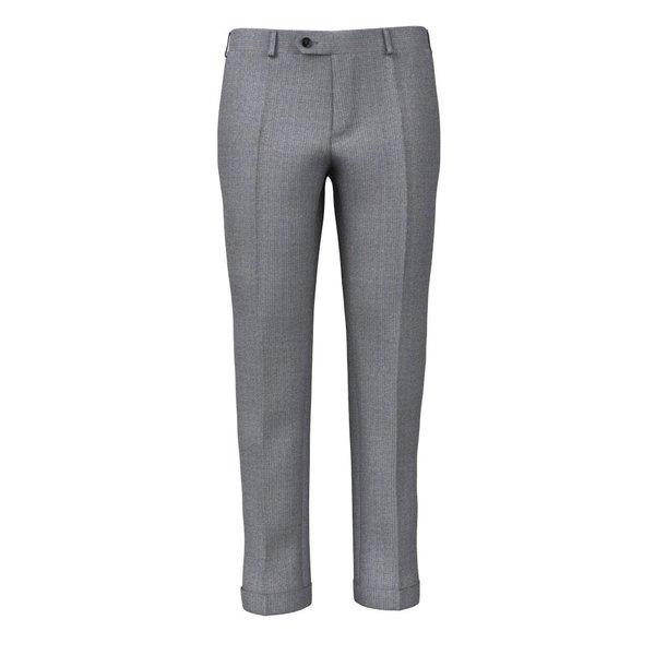 Pantaloni Natural Stretch Grigi a Righe Tessuto prodotto da  Reda