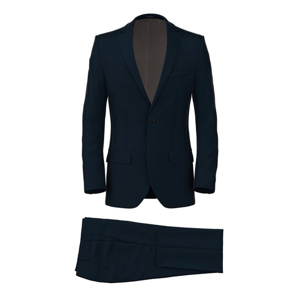 Blue Microdesign Suit Fabric produced by  Reda