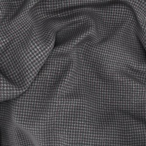 Light Grey Houndstooth Suit Fabric produced by  Reda