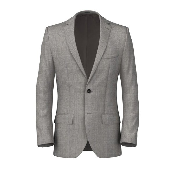 Light Grey Prince of Wales Jacket Fabric produced by  Reda