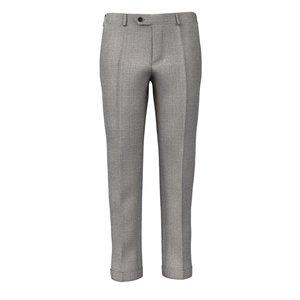 Pantaloni Grigi Chiaro Principe di Galles Tessuto prodotto da  Reda