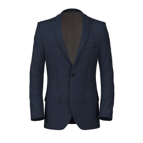 Blue Striped Wool Linen Jacket Fabric produced by  Reda