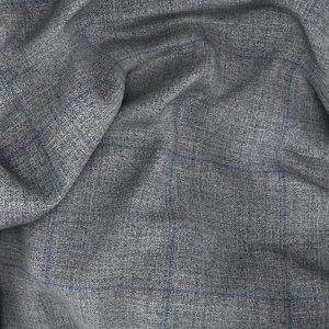 Giacca Traveller Grigia Finestrata Tessuto prodotto da  Reda