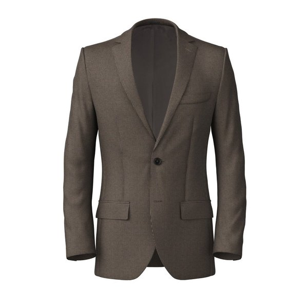 Veste Marron Microdesign Coton Tissu fabriqué par  Lanificio Subalpino