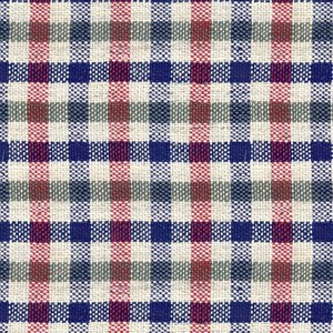 Giacca Blu Rossa a Quadri Tessuto prodotto da  Lanificio Subalpino