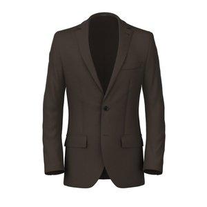 Blazer Marrone Twill Tessuto prodotto da  Tallia di Delfino