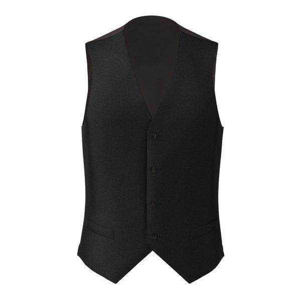 Black Wool Silk Waistcoat Fabric produced by  Tallia Delfino
