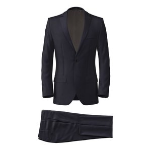 Traveller Dark Blue Suit Fabric produced by  Tallia Delfino