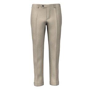 Pantaloni Beige Lana Lino Tessuto prodotto da  Vitale Barberis Canonico