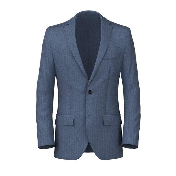 Light Blue Herringbone Blazer Fabric produced by  Vitale Barberis Canonico