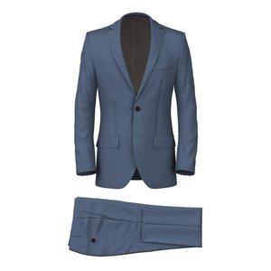 Abito Azzurro Spigato Tessuto prodotto da  Vitale Barberis Canonico