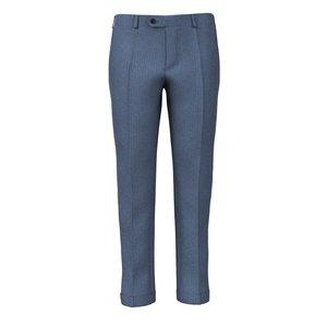 Pantaloni Azzurri Spigati Tessuto prodotto da  Vitale Barberis Canonico