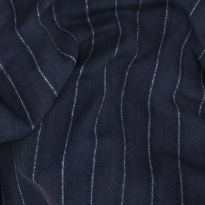 Blue Flannel Pinstripe Jacket Fabric produced by  Vitale Barberis Canonico
