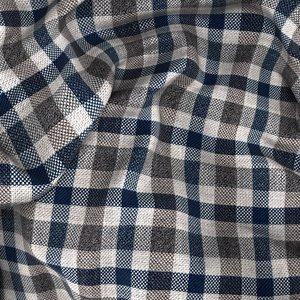 Abito Blu Beige a Quadri Tessuto prodotto da  Vitale Barberis Canonico