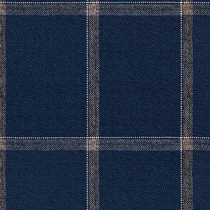 Abito Blu Grigio Finestrato Tessuto prodotto da  Vitale Barberis Canonico
