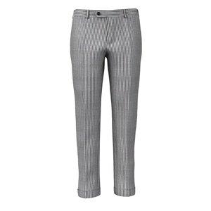 Pantaloni Grigi Fantasia a Righe Tessuto prodotto da  Vitale Barberis Canonico