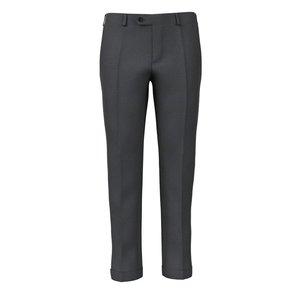 Pantaloni Grigio Scuro Finestrati Tessuto prodotto da  Lanificio Ermenegildo Zegna