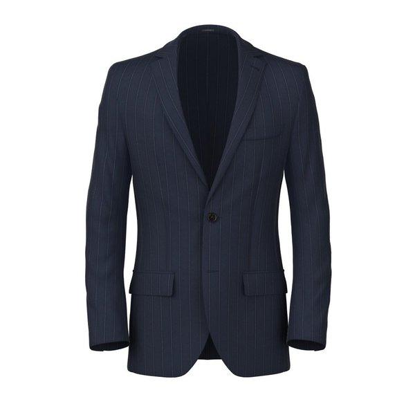 Blazer Blu Notte Gessato Tessuto prodotto da  Lanificio Ermenegildo Zegna