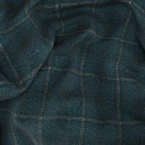 Blazer Verde Tartan Tessuto prodotto da  Lanificio Ermenegildo Zegna
